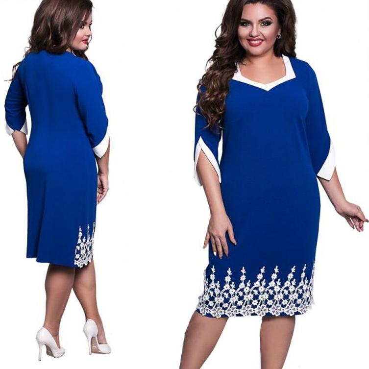 Elegant Lace Dress - Unique Boutique - CURVY - FREE SHIP - Slit-Sleeve - Spring for a new look in this elegant dress featuring a flattering asymmetrical neckline, half/slit-sleeves, lace and falls just below the knee. Choose from royal blue, red or burgundy. Size L-6XL. From our unique boutique. Description: Dress Length: Knee, Neckline: Asymmetrical, Material: Polyester, Spandex, Sleeve Length: