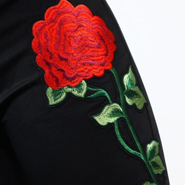 High Waist Embroidered Jeans