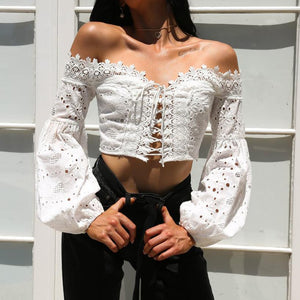 Off The Shoulder Hollow Out Top