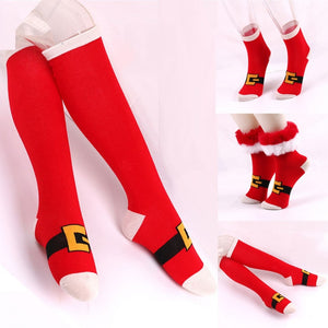 Keep it festive this year with these Fun Christmas Socks which are right on point for the season! They're cotton and come in 3 patterns. A Santa belt pattern with fluffy faux fur around the top, above ankle, a Santa belt with no fur, above ankle and a Santa belt with no fur, knee high. Color multi-colored. Delivery 4-13 days. From our Utterly Unique Boutique. Description: Material: Cotton, Length: Knee Or Above Ankle, Pattern: Santa Belt, Size: One Size Fits Most, Fashion Element: Faux Fur.