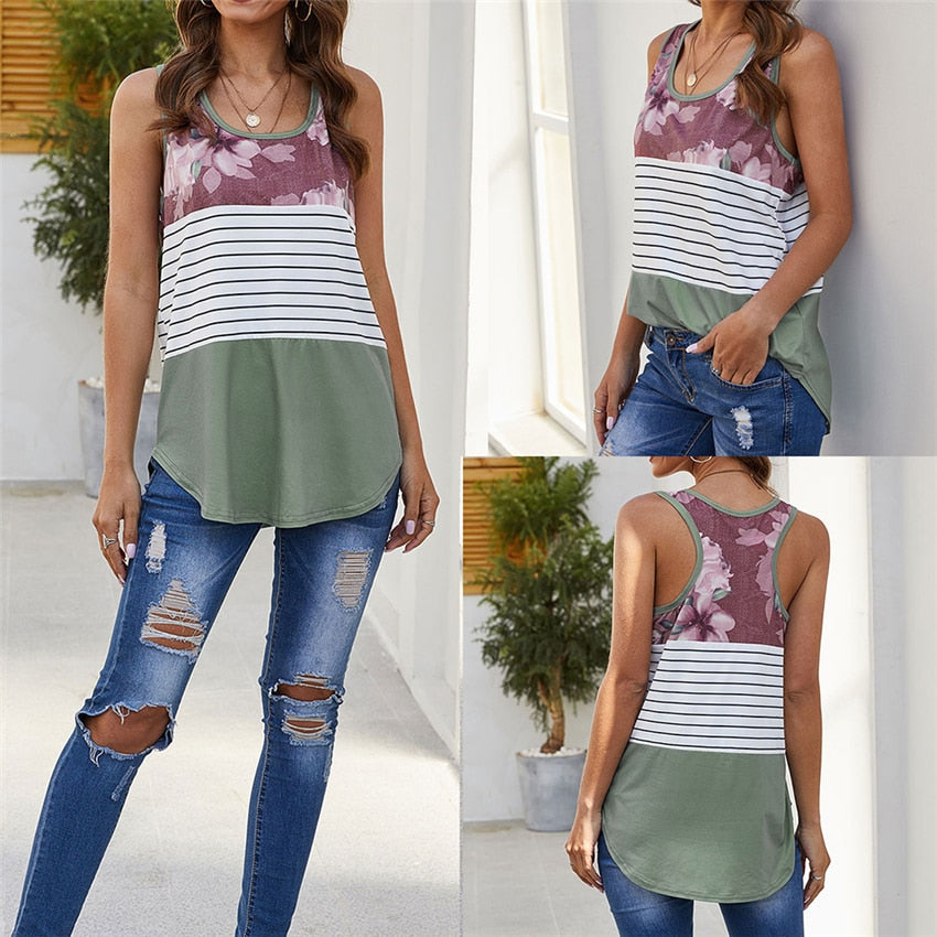 Blended Print Tank Top