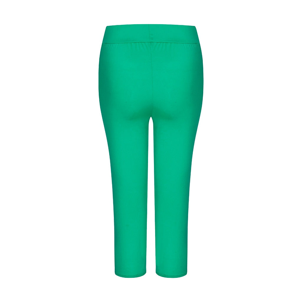 Hollow Out Capri Leggings