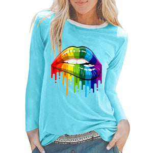 Lips T-Shirt Long Sleeves