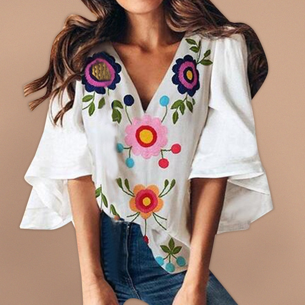 Beautiful Embroidered Floral Top
