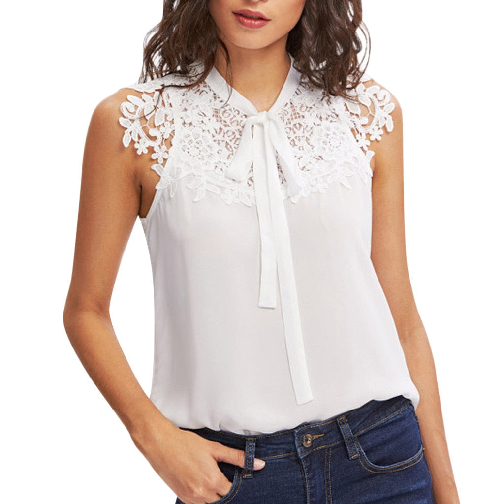 Lace Bow Top