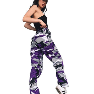 These popular and fun Cargo Camouflage Pants feature a gathered ankle length, button and zipper closure, high waistline, belt loops, pockets and a camouflage pattern. Available in 9 fun colors. From our unique boutique. Description: Pant Style: Cargo Closure: Button, Zipper, Pattern: Camouflage, Material: Polyester, Cotton, Fit: Loose, Length: Ankle, Fashion Element: Gathered Ankle, Pockets, Belt Loops, Waist: High.
