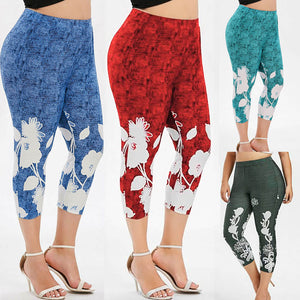 Grab a pair of these new Floral Capri Leggings that feature a mid-calf length, high elastic waist and large flowers on the leg. Your choice of 4 fun colors. Delivery 4-13 days. From our Utterly Unique Boutique. Description: Length: Mid-Calf Waist: High, Elastic, Material: Polyester, Cotton, Pattern: Floral.