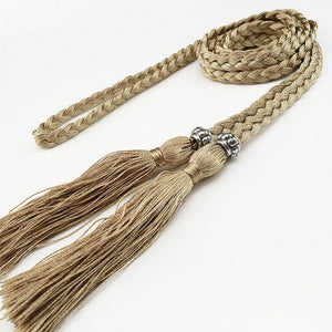 Braided Tassel Belt