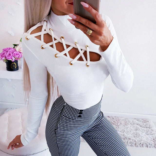 Front Lace-Up Top