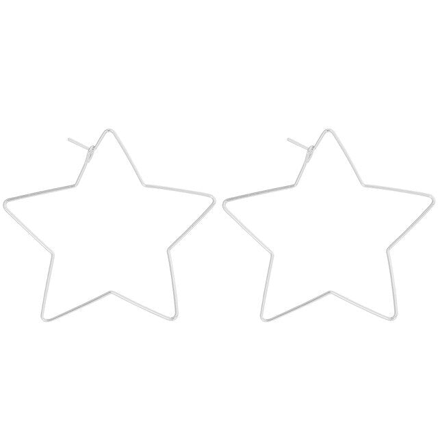 Hollow Out Star Earrings