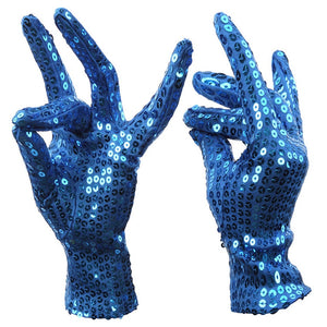 "Add a little bling to your style with these Sequin Gloves! Featuring a solid pattern, sequins and are stretchy. Your choice of 5 colors. Delivery 4-13 days. From our Utterly Unique Boutique. Description: Length: 6.7"", Wrist Circumference: 5.5"", Material: Polyester, Fashion Element: Sequins, Pattern: Solid, Elasticity: Stretchy."