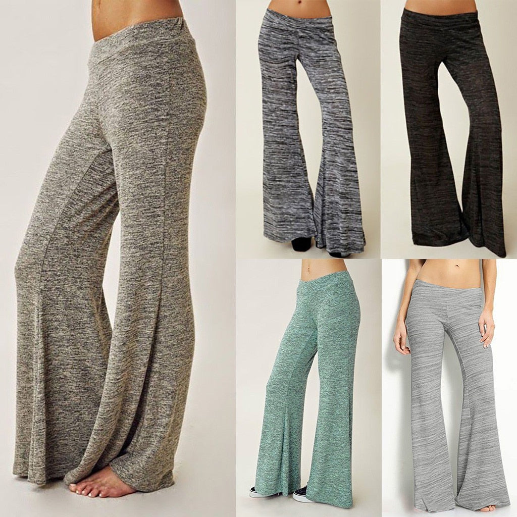 Slip into these cute Lounge Pants to stay comfy. Featuring a full length, elastic waistline, flare leg, lightweight and a solid pattern. Choose from 5 colors. Plus size available too. Delivery 4-13 days. from our Utterly Unique Boutique. Description: Length: Full, Waistline: Elastic, Pattern: Solid, Material: Cotton, Polyester, Fashion Element: Flare Leg.