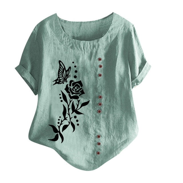 Butterfly Print Top