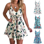 This super cute Belted Floral Dress is perfect for that special event. It features a V-neckline, spaghetti straps, a sash, printed floral pattern and falls above the knee. Your choice of 3 mixed colors. Size S-4XL. Delivery 5-7 days. From our Utterly Unique Boutique. Description: Dress Length: Above Knee, Neckline: V-Neck Material: Polyester, Straps: Spaghetti Straps, Pattern: Floral, Fashion Element: Sash.