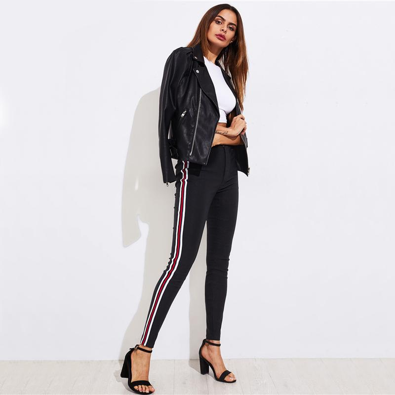Striped Skinny Pants - Utterly Unique Boutique