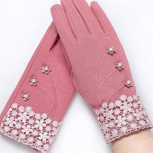"Elegant Texting Gloves - Utterly Unique Boutique - $11.99 - FREE Ship - These beautiful gloves will keep you warm and stylish all winter long with the ability to easily text or answer your phone. Featuring lace, simulated pearls or bow, windproof and resistant to dirt. Choose from 2 designs and 6 colors. From our Utterly Unique Boutique. Description: Length: 9"" (24 cm) Palm Width: 3"" (8.3 cm)"