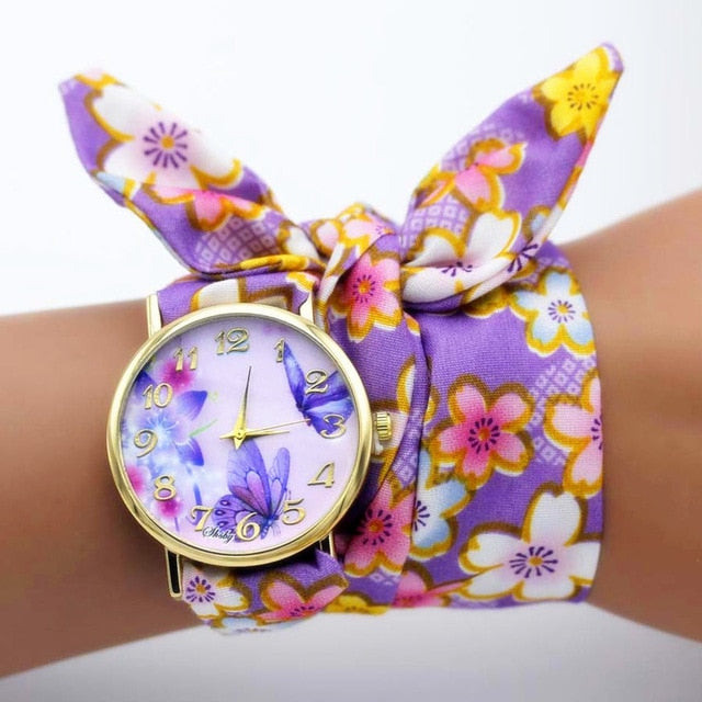 Fabric Wrap Watch - Utterly Unique Boutique - $9.99 - SHIPS FREE - Wrap this awesome fabric watch around your wrist for a unique look. Featuring a Quartz movement, round/glass window and a fabric band. Choose from 20 different fabric designs. From our Utterly Unique Boutique. Description: Movement: Quartz, Clasp: None, Case Material: Alloy, Case Shape: Round, Water Resistance: No, Dial Window