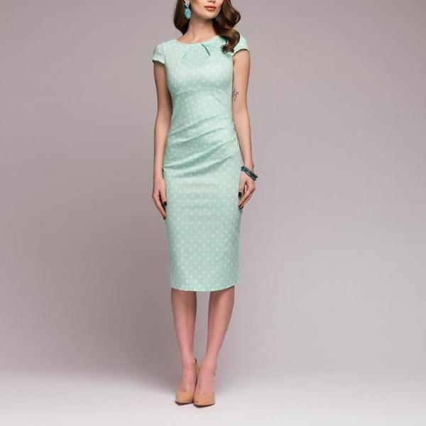 Dotted Short Sleeve Dress - Utterly Unique Boutique