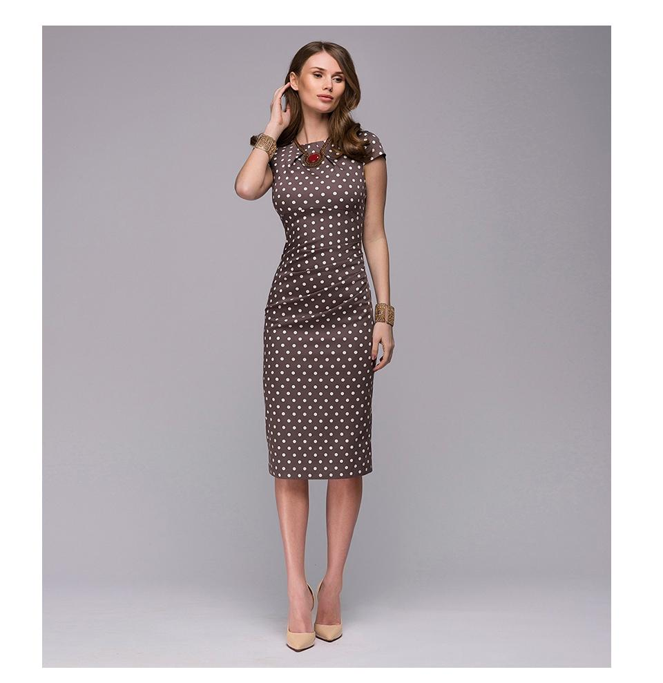 Dotted Short Sleeve Dress - Be Unique Boutique - FUN - FREE SHIPPING - Office to evening, this fun dotted dress features a crew neckline, cap sleeves and falls to the knee. Your choice of brown or mint. From our be unique boutique. Description: Dress Length: Knee, Sleeve: Cap, Pattern: Dots, Material: Polyester, Neckline: Crew.
