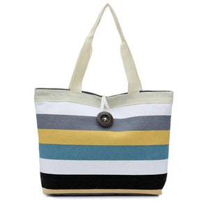 Striped Canvas Shoulder Bag