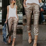 Glittery Gold Leggings - Utterly Unique Boutique