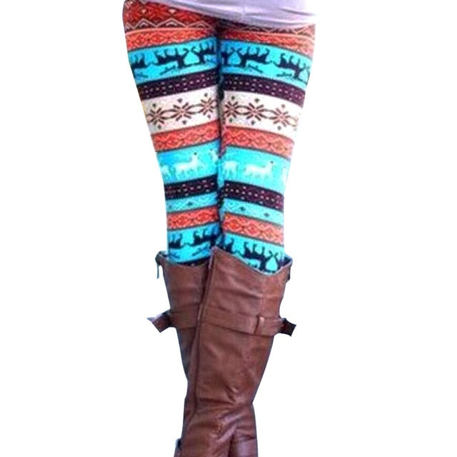 Printed Leggings - Unique Boutique - Holiday - CURVY Size Too - $8.99 - These comfortable leggings look great with boots. Featuring cute patterns, mid waist and ankle length. Choose from 5 patterns and colors. From our unique boutique. Description: Waist: Mid Fabric: Fleece, Thickness: Standard, Length: Ankle, Pattern: Printed, Size: One Size.