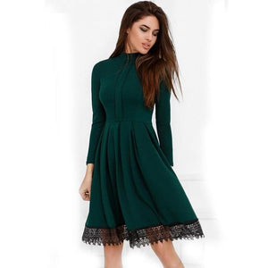 Long Sleeve Laced Dress - Utterly Unique Boutique