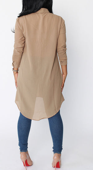 Chiffon Shirt - Utterly Unique Boutique
