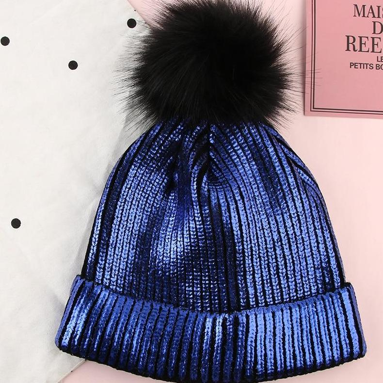 Shiny Pom-Pom Hat - Unique Boutique - TRENDY - FREE SHIPPING - $10.99 - This cotton hat not only keeps you warm and cozy on the coldest of days, but is trendy as well. One size fits most. Choose from 7 colors and with or without a pom-pom. From our unique boutique. Description: Material: Cotton, Pattern: Solid, Size: One Size Fits Most.