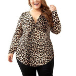 V-Neck Leopard Top - Unique Boutique - M-8XL - FREE SHIP - SOFT - CUTE - The longer length and easy to wear style makes this comfy, stretchy top a perfect addition to your wardrobe. Featuring a v-neck collar, full sleeves and leopard print. Choose from brown or black. Sizes M-8XL. From our unique boutique. Description: Material: Rayon, Polyester, Spandex, Cotton, Pattern: Leopard, Sleeve Length