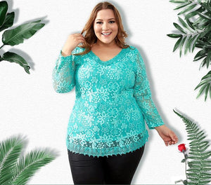 Elegant Lace Top - Utterly Unique Boutique - CURVY - FREE SHIP - $16.99 - This beautiful, elegant lace top is sure to get you compliments. It feature a v-neckline, floral lace, double tiers and comes in either full sleeves or short sleeves. Choose from 3 colors. Size up to 8XL. From our Utterly Unique Boutique. Description: Lining Material: Cotton, Spandex, Sleeve Length: Long Or Short, Fashion Element