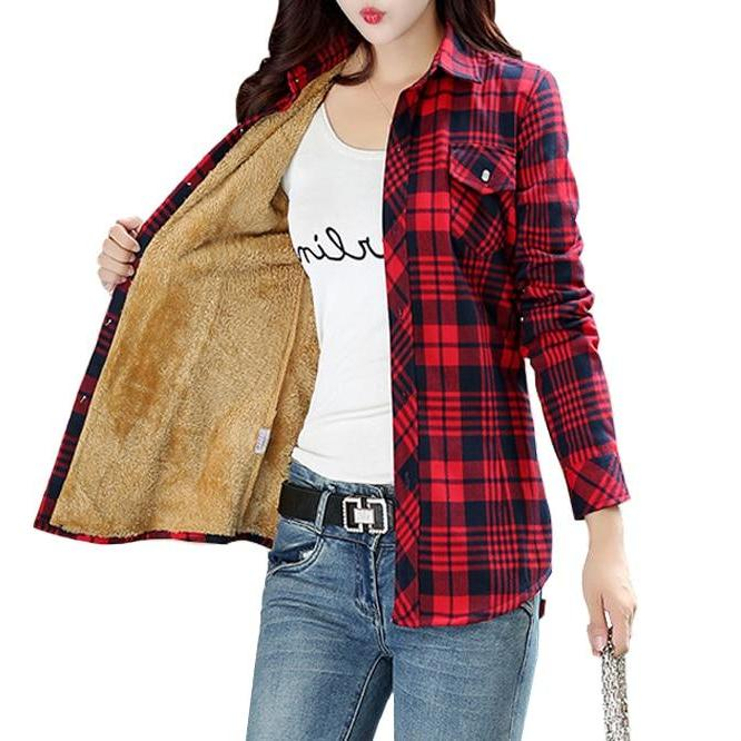 Flannel Lined Shirt - Unique Boutique - CURVY Sizes Too - $19.99 - NEW - Stay warm this winter in this thick, lined, button down flannel shirt. Featuring a turn-down collar, full sleeves, plaid pattern, pockets and button closure. Choose from 11 colors. From our Unique Boutique. Description: Material: Cotton, Fabric: Flannel, Sleeve Length: Full, Fashion Element: Pockets, Pattern: Plaid, Collar: Turn-Down, Thickness: Thick C