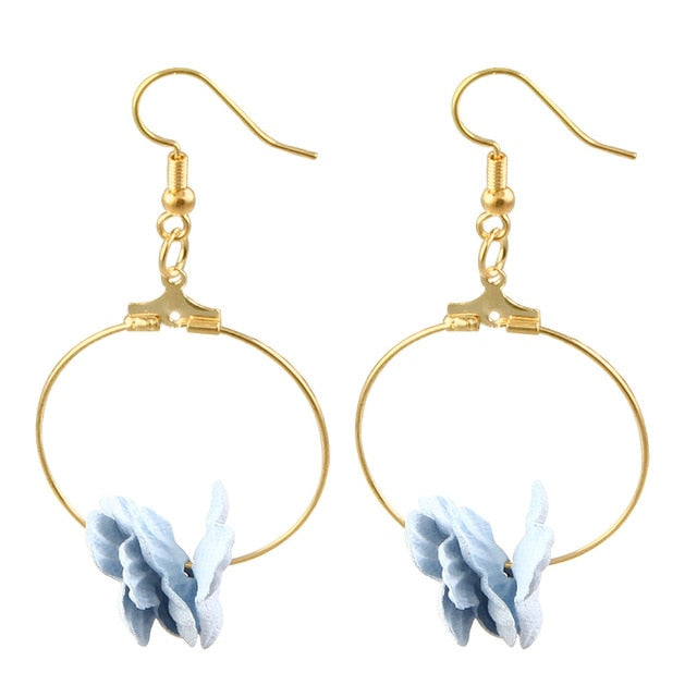 Fabric Petal Earrings - Utterly Unique Boutique