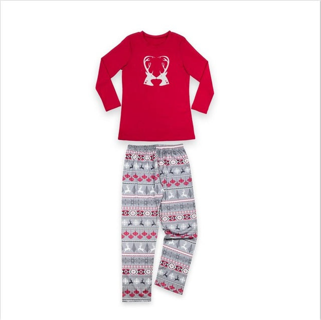 Reindeer Pajama Set - Utterly Unique Boutique - CUTE - FREE Shipping - Hunker down and stay warm in these comfortable pajamas featuring a reindeer pattern, full sleeve and elastic waist. Pair with slippers. From our Utterly Unique Boutique. Description: Collar: Crew, Sleeve Length: Full, Material: Cotton Blend, Pattern: Reindeer, Sleeve Length: Full, Thickness: Medium, Waist: Elastic.