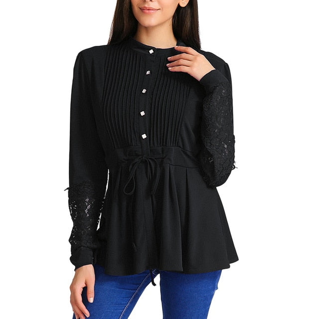 Ruched Peplum Blouse