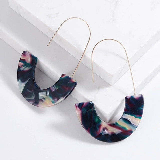 Half Circle Earrings
