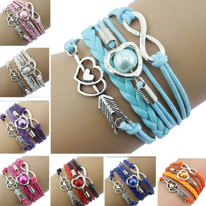 Multi-Strand Bracelet - Utterly Unique Boutique - $3.99 - SHIPS FREE - Expand your jewelry collection with this really cute multi-strand bracelet. It features a link chain, lobster claw clasp, ropes, braided leather and charms. Choose from 7 fun colors. From our Utterly Unique Boutique. Description: Metal: Alloy, Clasp: Lobster Claw, Chain: Link, Material: Metal, Wax Rope, Leather, Length: 7""