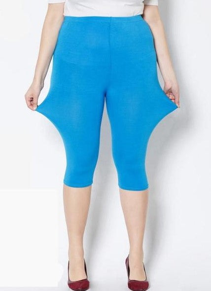 Capri Style Leggings - Unique Boutique - $12.99 - SHIPS FREE + CURVY - These thin, stretchy capri style leggings are so versatile they'll go with anything in your wardrobe. Featuring a mid-calf, mid/elastic waistline and a solid print. Pair with sandals or flats. Choose from 11 colors. From our unique boutique. Description: Length: Mid-Calf, Material: Spandex, Microfiber, Waist: Mid,