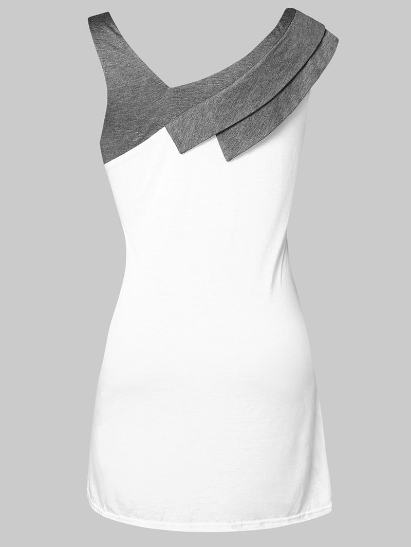 Asymmetrical Collar Top