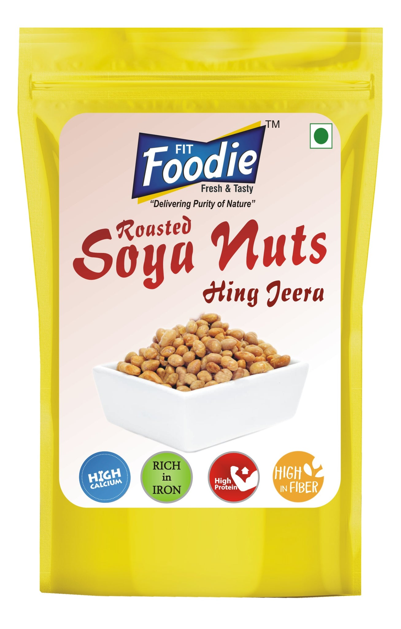 Roasted Soyabean Nuts Hing Jeera Protein Rich Healthy Diet Snack (100 Pack  x 200 gm ...