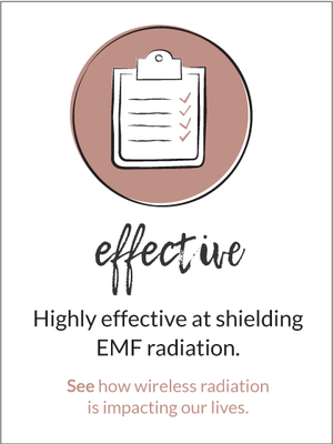 Highly effective at shielding EMF radiation