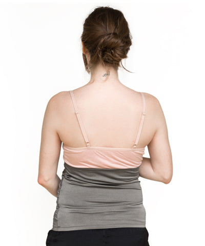 belly armor lacy camisole with radiation shielding fabric maternity