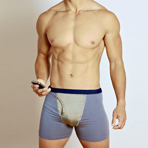 Men's Boxer Briefs with Radiation Shielding Fabric