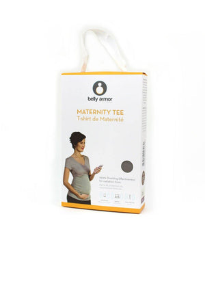 Rouched Maternity Tee with Radiation Shielding Fabric