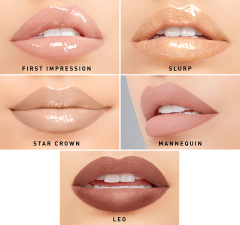 MORPHE X JEFFREE STAR ICONIC NUDES LIPPENKOLLEKTION AUF EINEM MODEL