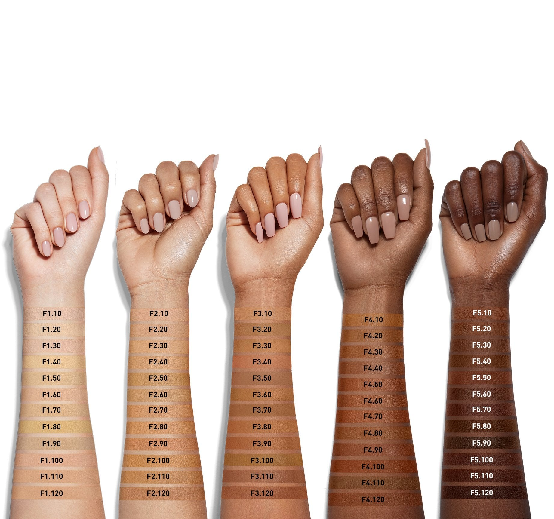 FLUIDITY FULL-COVERAGE FOUNDATION - F3.80 ARM SWATCHES