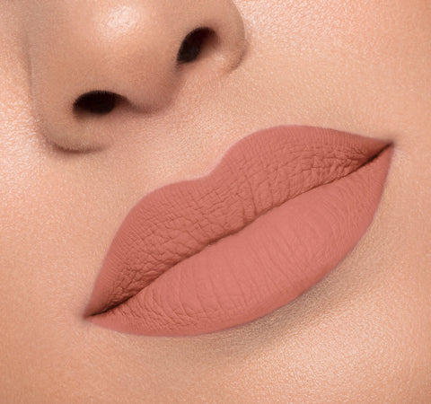 MATTE LIQUID LIPSTICK - VIRGIN ON MODEL