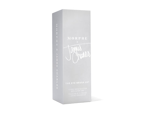 PACKAGING ENSEMBLE DE PINCEAUX À PAUPIÈRES MORPHE X JAMES CHARLES