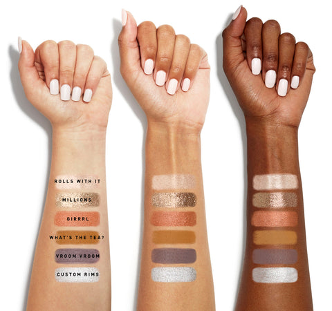 THE JEFFREE STAR EYESHADOW PALETTE ARM SWATCHES