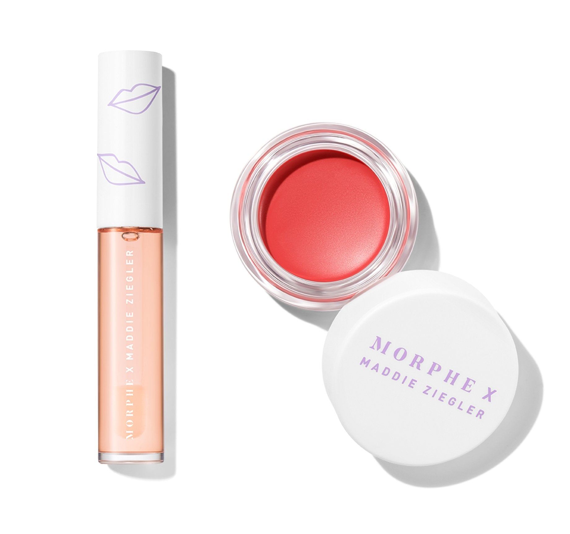 MORPHE X MADDIE ZIEGLER PEACH THAT POPS LIP & CHEEK DUO, view larger image